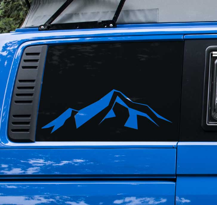 4 Motion Quarter Panel Mountain Decal Sticker